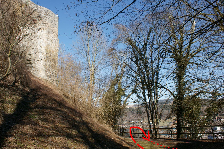 Zugang Burgmauerfelsen I